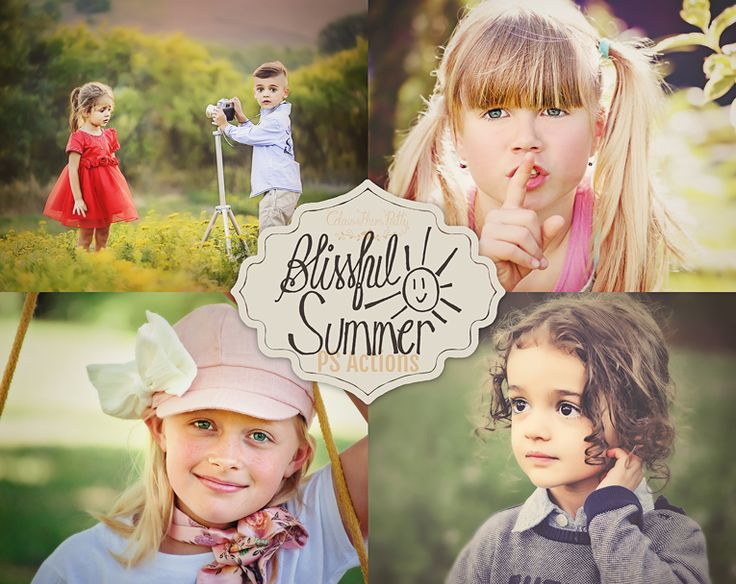Blissful Summer Actions {Photoshop CS6 & CC and Elements 11 & Newer Versions}