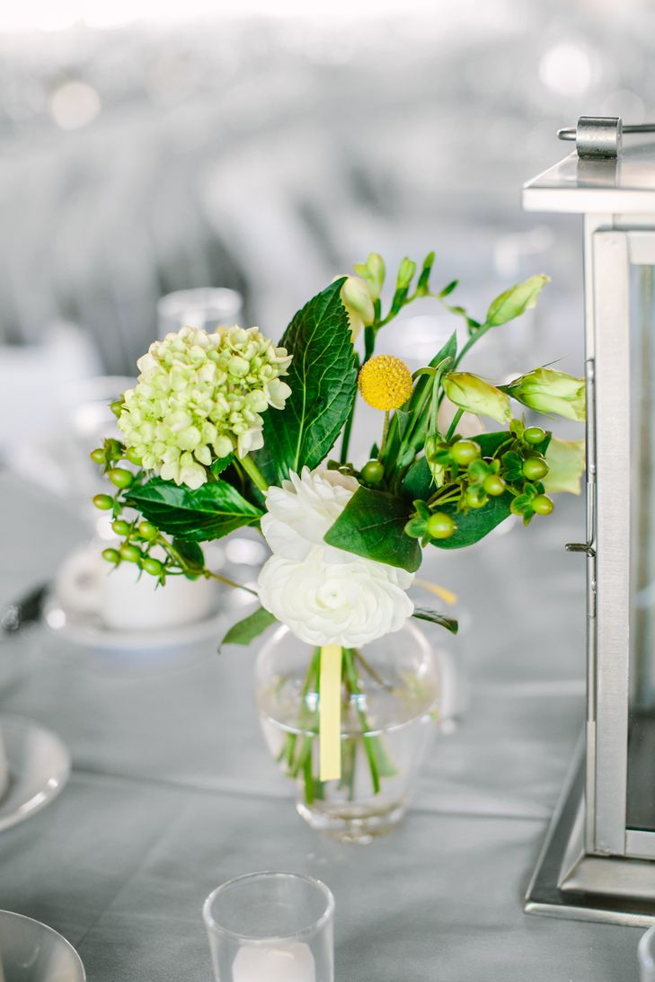 Summery DIY Centerpieces | Love & Light Photography https://www.theknot.com/marketplace/love-and-light-photographs-little-silver-nj-611914 https://www.theknot.com/real-weddings/a-contemporary-diy-wedding-at-hawks-landing-country-club-in-southington-connecticut-album