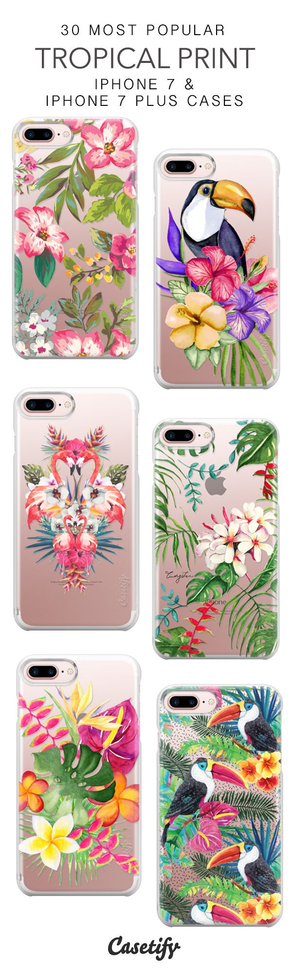30 Most Popular Tropical Print Protective iPhone 7 Cases and iPhone 7 Plus Cases. More Summer case here > https://www.casetify.com/collections/top_100_designs#/?vc=FjE7QIZvjA
