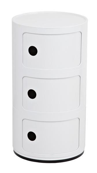 Replica Anna Castelli Ferrieri Componibili 3 Round Storage White