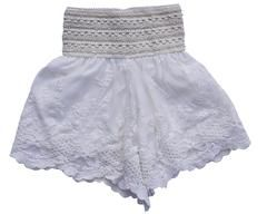 Vintage Lace Girls Shorts - Bailey's Blossoms