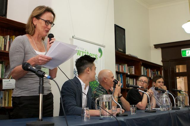 Our Executive Director Jane McCredie opening the Creative Non Fiction Festival in November 2013