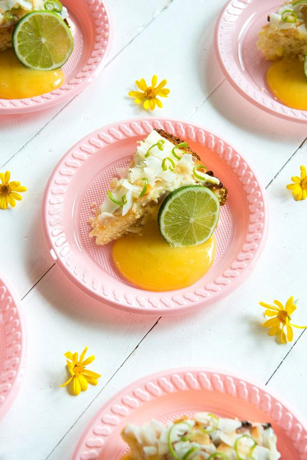 A sweet, summery cake with just the right amount of zing to get the dessert party started. It also has the magical ability to transport your thoughts to a tropical oasis, even if your real-world view is more recycling bins than banana trees. Lime Coconut Cake Serves 8 Lime Curd ¾ cup caster sugar Pinch […]