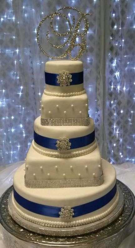 Hochzeitstorten elegant blau einfach 26+ neue Ideen   – Dresses/Vintage/Wedding..