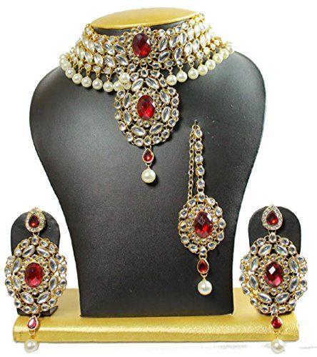Attractive Indian Red Stone Kundan Pearls Wedding Wear Wo... https://www.amazon.com/dp/B01NCZESK0/ref=cm_sw_r_pi_dp_x_DmYJybHFB3F9N