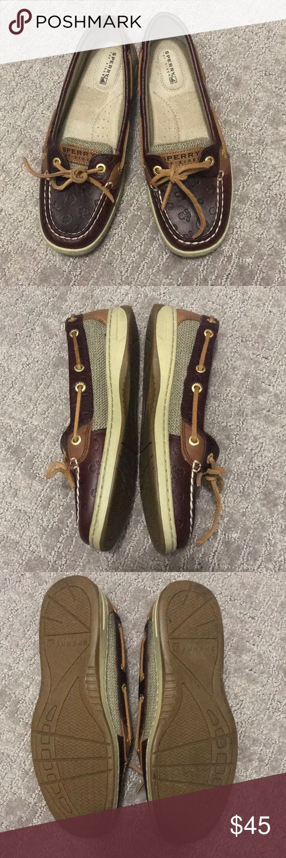 Like new! Sperry top-sider angelfish boat shoes In like new condition, size 6M. Only worn once! Really cute and classic style Sperry Top-Sider Shoes Flats & Loafers