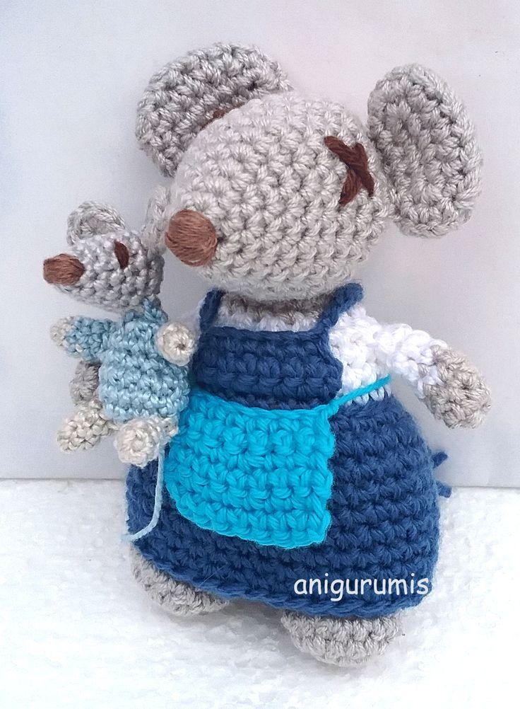 Mamá Ratona Amigurumi - Patrón a Crochet Gratis en Español                                                                                                                                                                                 Más