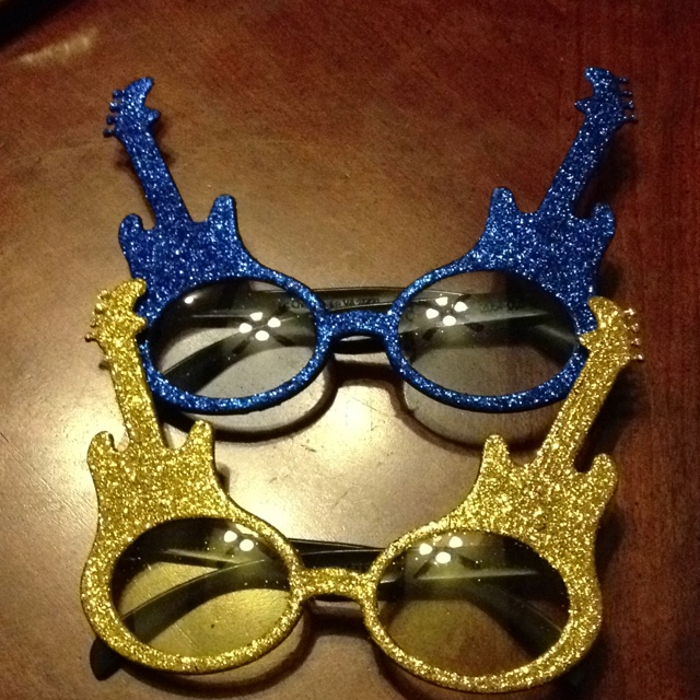 Have a Rock Star theme in your classroom this year?  Rock Star glasses from Dollar Tree.
