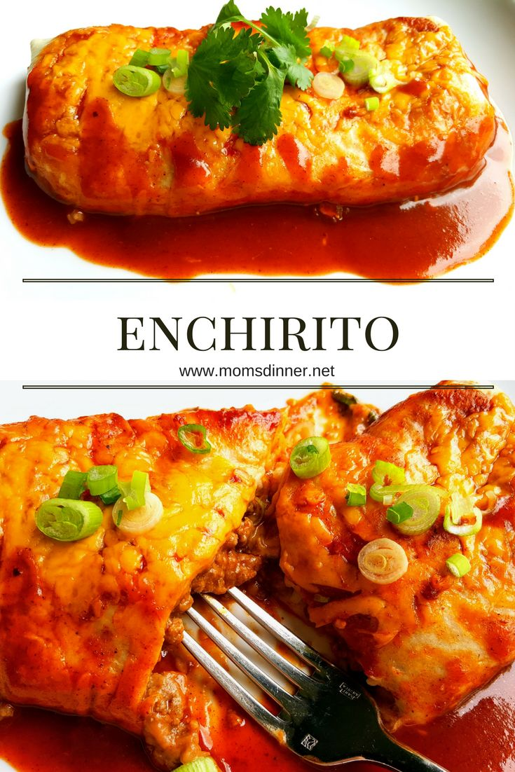 An enchirito is a little burrito, a little enchilada. It is the easy way to get your enchilada fix using premade enchilada sauce and flour tortillas. This is a great recipe filled with beef, beans, onions, cilantro and cheese... lots of cheese!