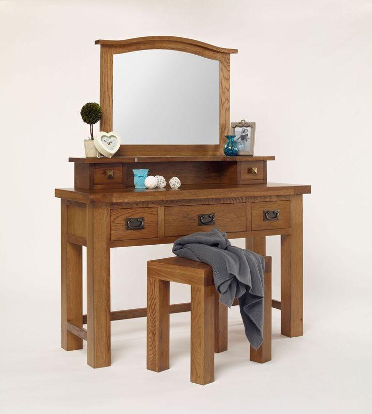 Brooklyn Rustic Oak 3 Drawer Dressing Table - Adult Bedroom - Bedroom Furniture