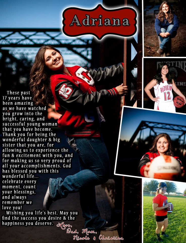 Senior Recognition Ad designed by Gustine High School Yearbook. Dominant photo, top right, and third right are courtesy of Melody & David Photography. Photo second right courtesy of Lifetouch.