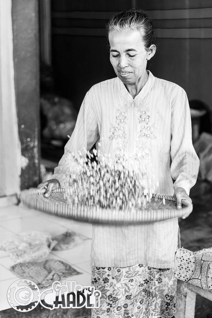 Oude dame, Jakarta, Java, Indonesië