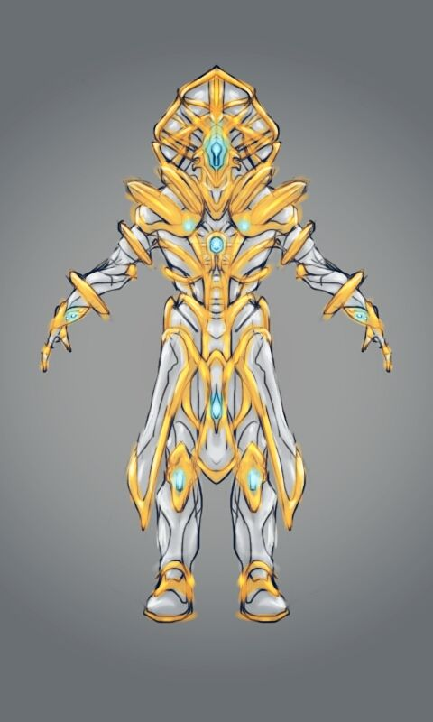 Not a Tenno warframe. It was worn by the royalty, and nobility. The warframes are based on their designs.
