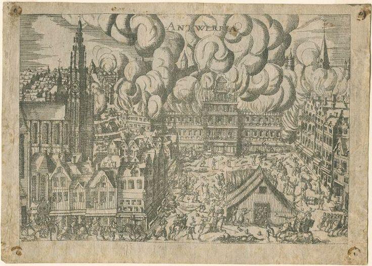 hogenberg-furia española 1576 Amberes