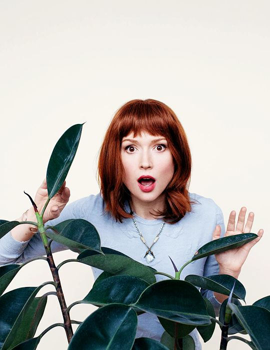 Ellie Kemper in Bust-- bangs
