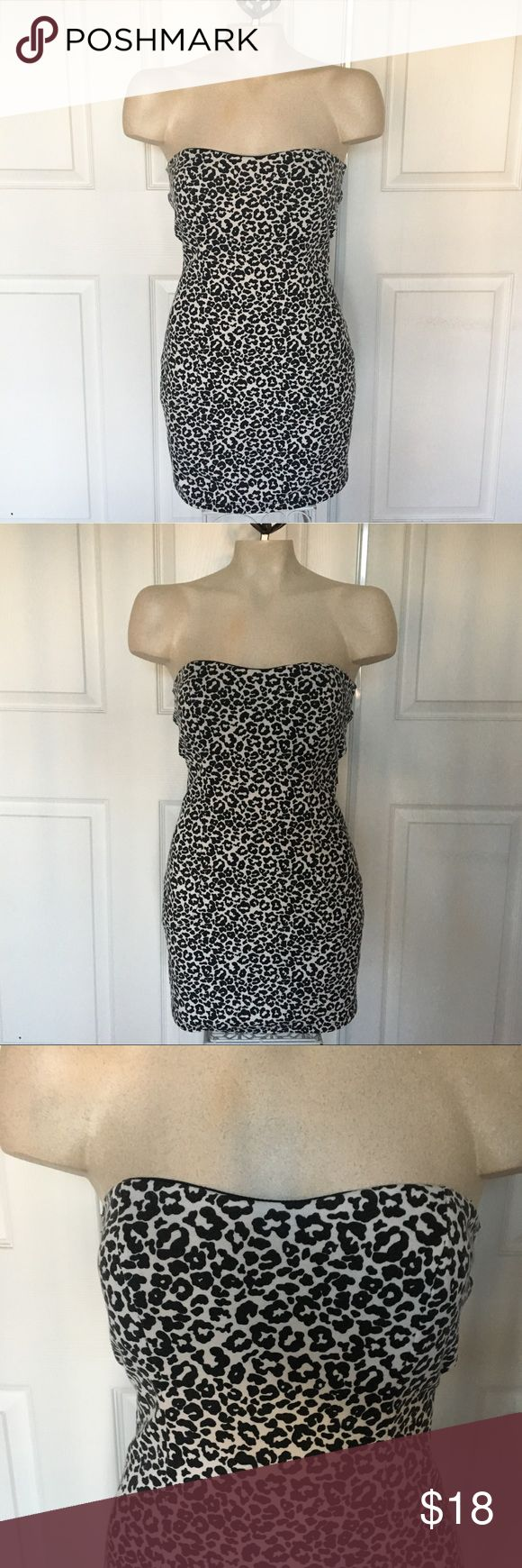 Send offers! Foreign Exchange Strapless Bodycon So fun for a night out! Strapless animal print Bodycon dress by Foreign Exchange! Fun back detail, zips up. Best fits a Small! NO TRADES Foreign Exchange Dresses Strapless