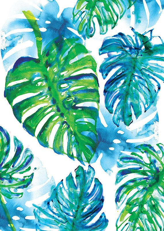 Jungle Print Archival Art by lovelysweetwilliam on Etsy
