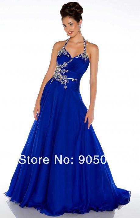 Платье партии пром платье бесплатная доставка 2014 горячие sexy длинные бальное платье шифон этаж длина платья vestidos де festa вечерние платья