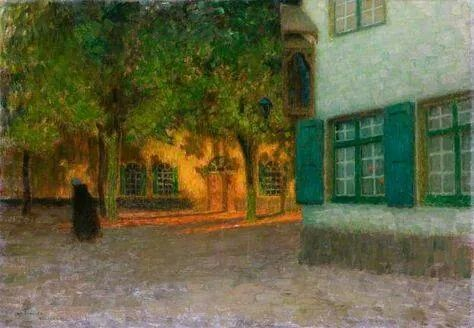 Henri Le Sidaner , La casa con le persiane verdi