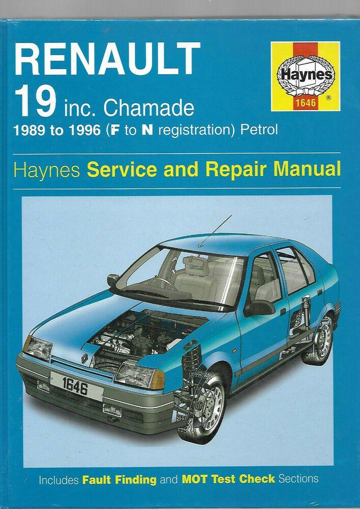 Haynes New Sealed Rare Renault 19 Chamade 1996 Service And Repair Manual Petrol Renault 19