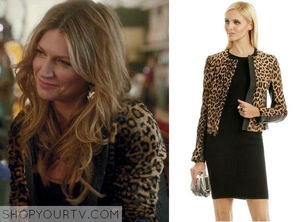 Mistresses: Season 2 Episode 1 Josslyn's Leopard Print Leather Jacket - ShopYourTv