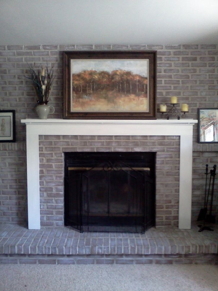 Floor To Ceiling Brick Fireplace Makeover Part - 33: Diy Brick Fireplace Makeover
