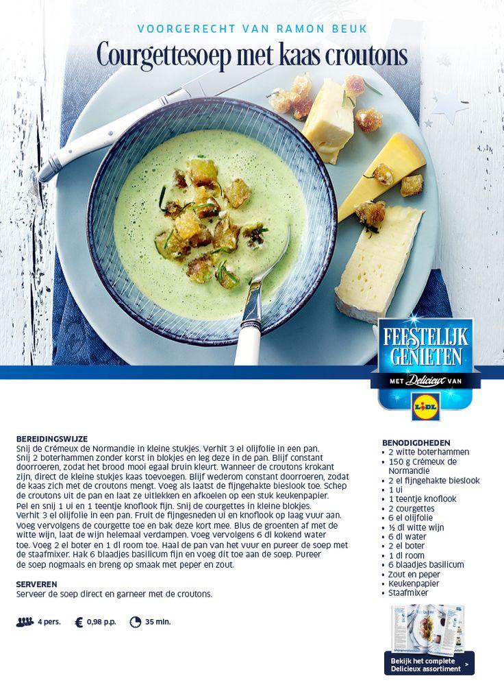 Courgettesoep met kaas croutons - Lidl Nederland