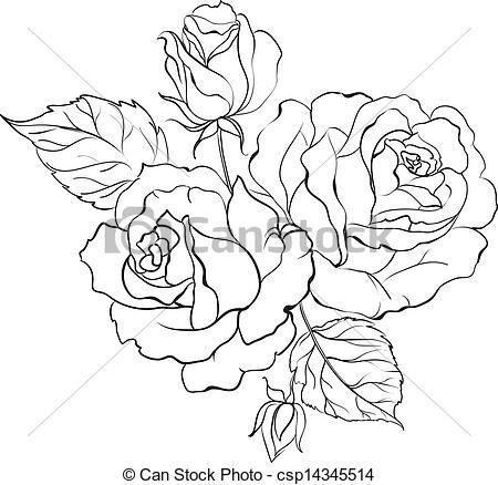 Rose Outline Clip Art | , stock clip art icon, stock clipart icons, logo, line art ...