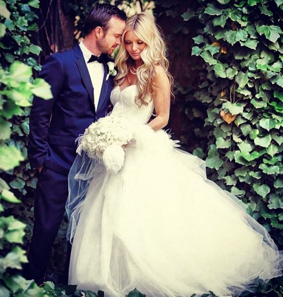 Aaron Paul aka 'Jesse Pinkman' and his lovely bride Lauren.