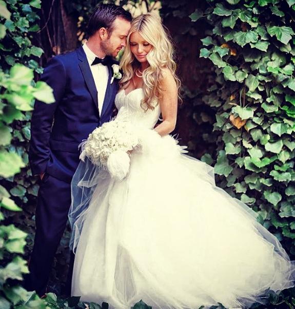 Aaron Paul aka 'Jesse Pinkman' and his lovely bride Lauren.