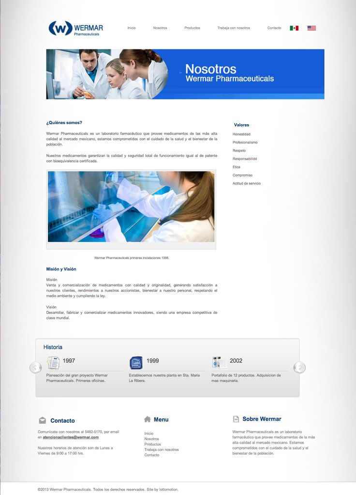 Web design. Digital communication. Wermar Pharmaceuticals. http://www.wermar.com