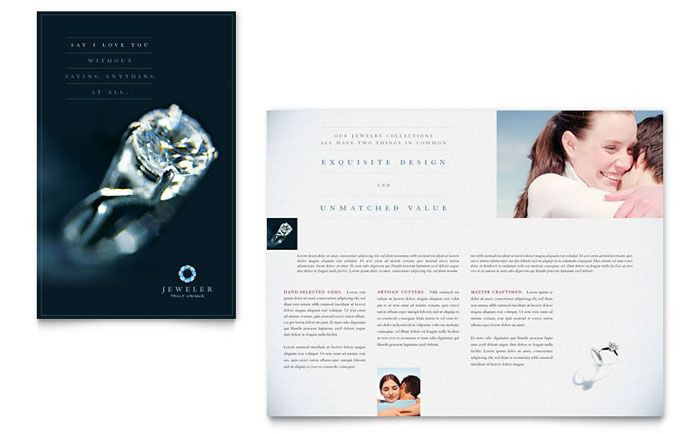 Jeweler & Jewelry Store Brochure Template Design
