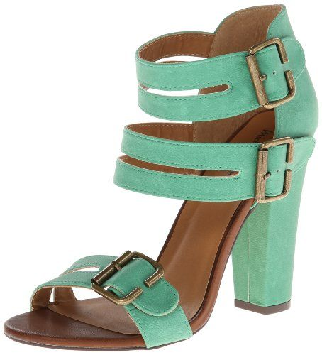 BUY NOW Michael Antonio Women s Janay Dress Sandal,Green,6.5 M US Adjustable buckle closures. Smooth man-made lining. Lightly padded footbed. Man-made outsole. Imported.