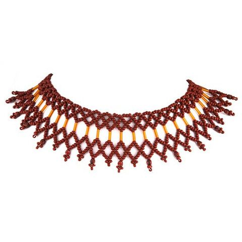 Handmade Ecaille #Beaded #Choker #Necklace Anthos #Jewelry – Anthos Crafts