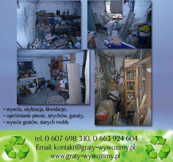 sprzątanie,opróżnianie piwnic Wrocław tel 607-698-310  ,  663-924-604 www.graty-wywozimy.pl