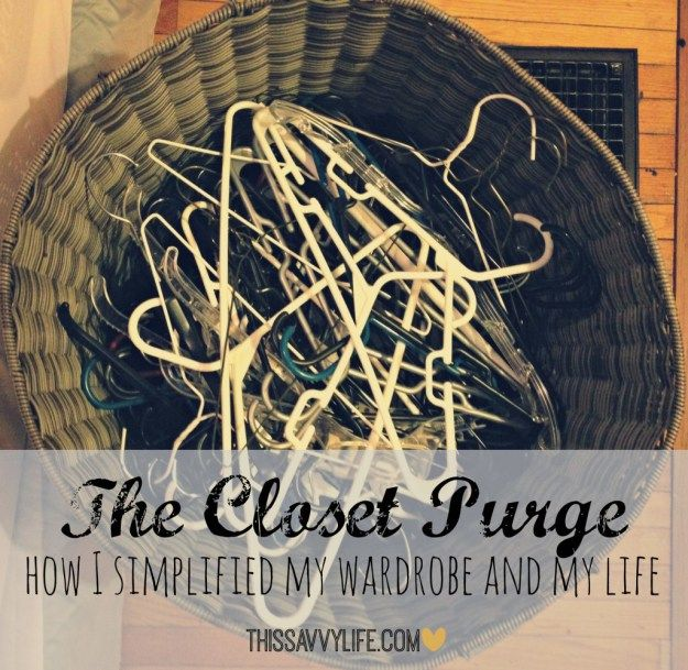 The Great Closet Purge of 2015: The 40 Hanger Closet - Up in the Loft