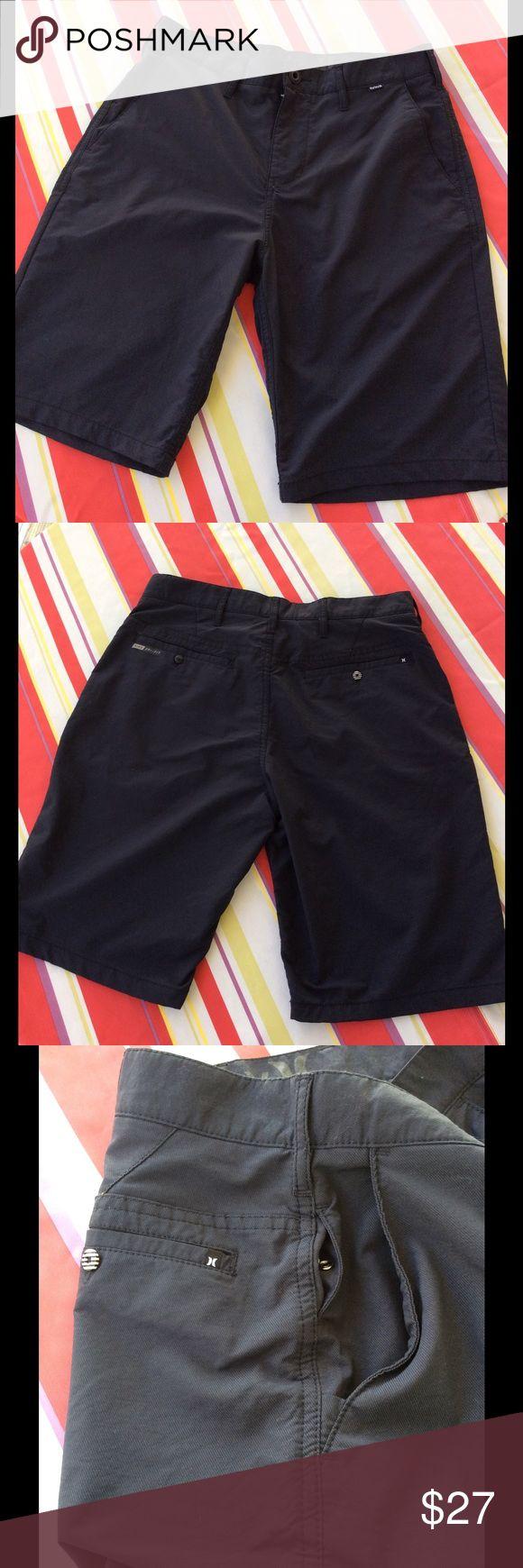"Men's Hurley/Nike Dri-Fit Shorts EUC Secret key pocket, as shown in pix #3; 2 deep mesh front pockets and 2 mesh back.  Great cool shorts!  Measurements:  29"" waist; 10"" rise and 10"" inseam Hurley/Nike Dri-Fit Shorts"