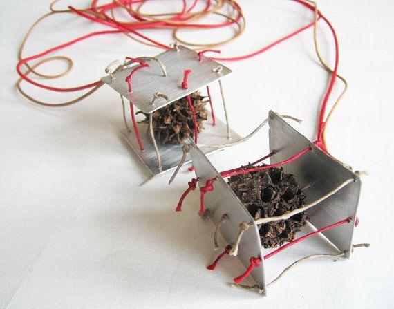Infinity necklace  lariat necklace  ecofriendly by PikipokaJewelry