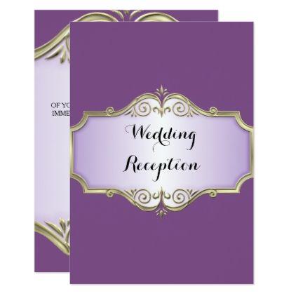 Elegant Antique Satin Wedding Reception Card - chic design idea diy elegant beautiful stylish modern exclusive trendy