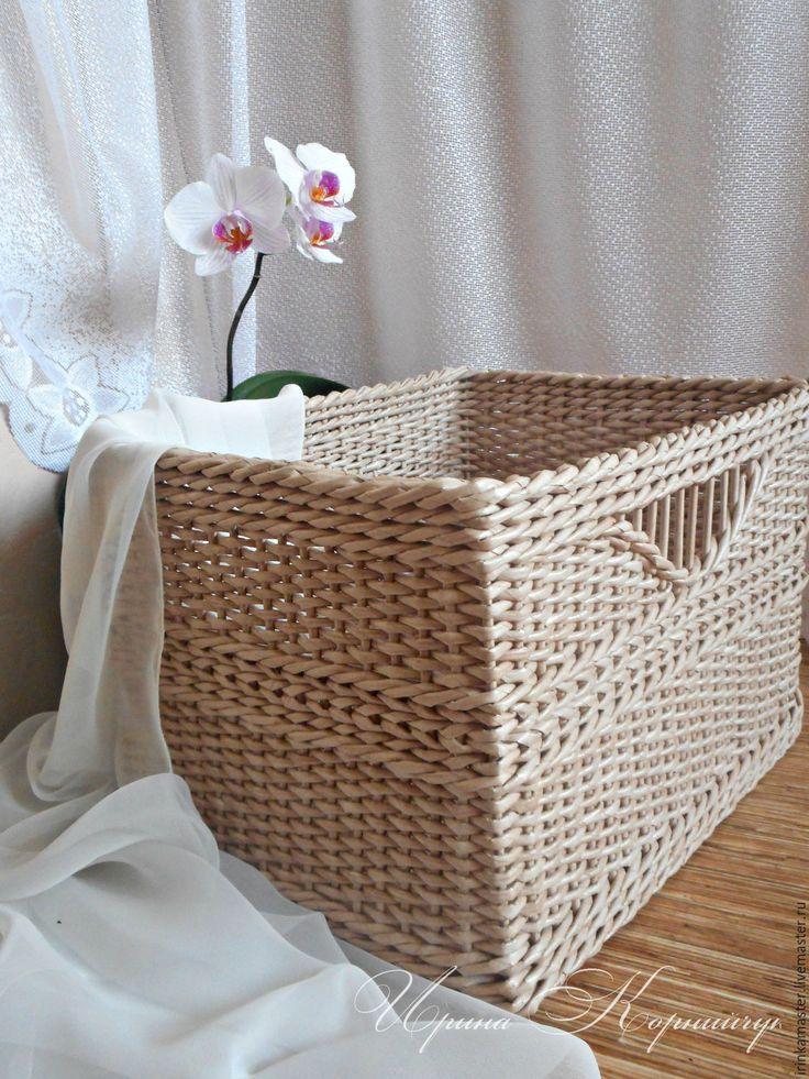 """Купить Корзина плетеная """"Нежность"""" короб для хранения. - корзина плетеная, плетеная корзина, плетеные изделия"""