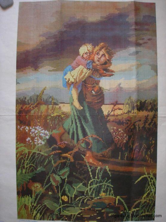 (1) Gallery.ru / Дети, бегущие от грозы - Старинные схемы вышивок - turist57