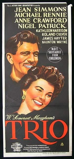 TRIO Movie Poster 1950 Jean Simmons ORIGINAL EALING Australian Daybill ...