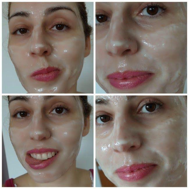 Máscara facial para remover cravos.