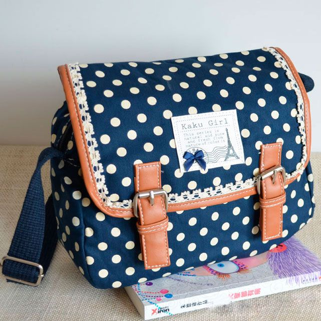 discount purses and handbags Cool Nice Lace Polka Dot Messenger Bag