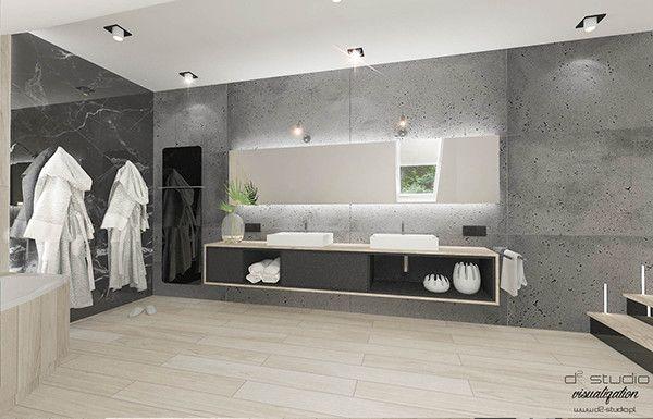 nowoczesna łazienka na poddaszu D2 STUDIO DARIA SZYDŁO www.d2-studio.pl