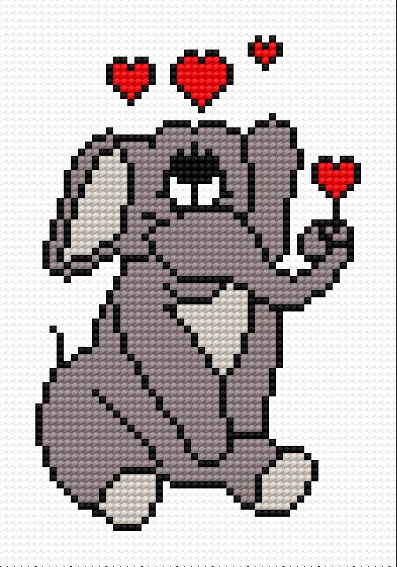 A small elephant in love (animal, zoo, Valentine s Day, love, Africa, elephant, heart)