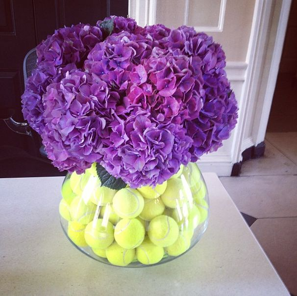 If there ever was a tennis themed flower bouquet...