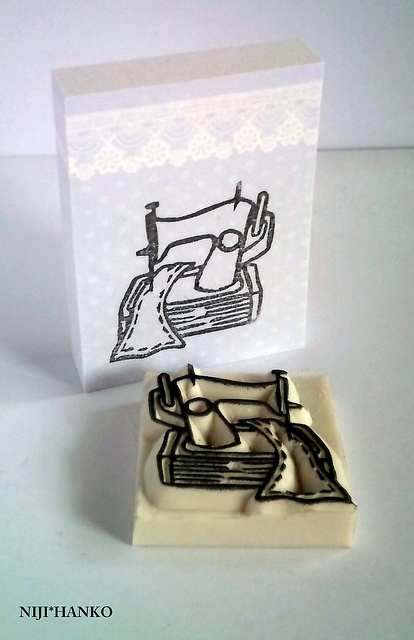 fabric and machine stamps!