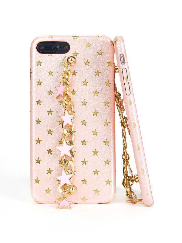 fbd488810f Metallic Star Decorated iPhone Case -SheIn(Sheinside) | Protector de ...