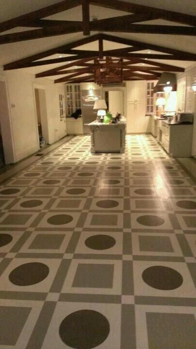 Painted Floor.    KevenHawkins.com